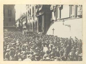 Funerali di Giovanni Pascoli a Bologna