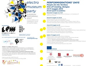 Performigrations' Days at Palazzo Pepoli – Museum of the History of Bologna (May 14th – 17th, 2014)