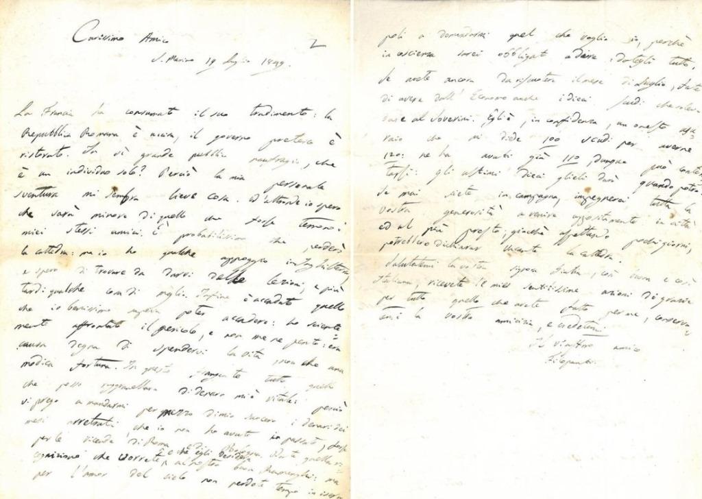 Lettera Filopanti