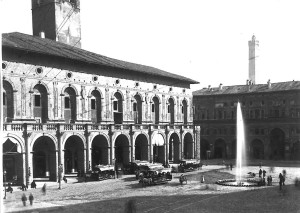Il nuovo acquedotto e la fontana in piazza Maggiore