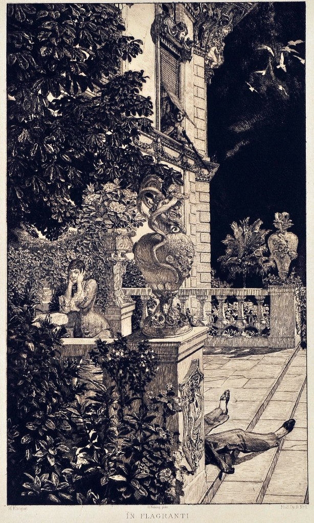 In flagrante, Drammi, Opus IX, Max Klinger, 1883
