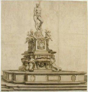 La fontana del Nettuno e l'isola demolita